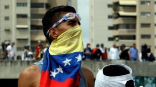 Manifestante venezolano.