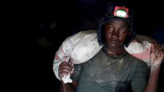 A young gold miner works in Makala gold mine camp near the town of Mongbwalu in Ituri province, eastern Democratic Republic of Congo, April 7, 2018.