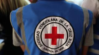 Red Cross vest in Venezuela