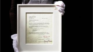 A letter documenting the break up of 'The Beatles'