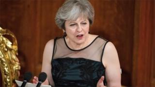 Theresa May at the Guildhall