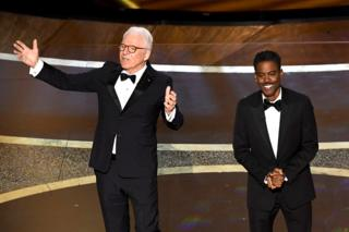 in_pictures Steve Martin and Chris Rock on stage