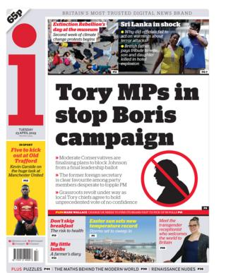 Front page of the i