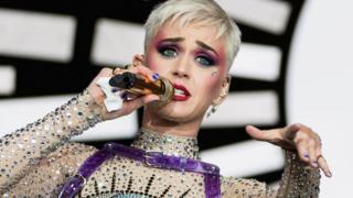 La cantante estadounidense Katy Perry en un concierto