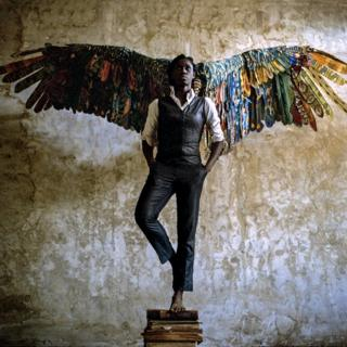 Woman with wings