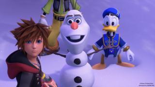 Sora, Olaf, Donald Duck
