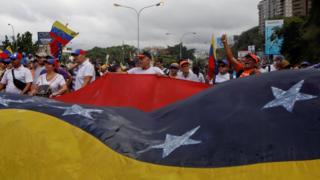Los opositores se movilizaron en Caracas y en varias ciudades del interior del país