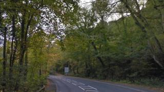 B4251 Newport Road between Gelligroes and Ynysddu