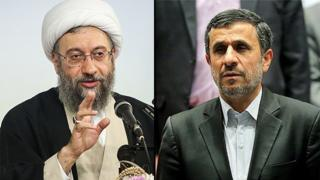 احمدینژاد و صادق لاریجانی