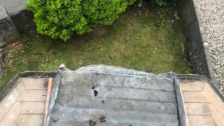 Gemma Hamilton's ledge above her living room after the lead was stolen
