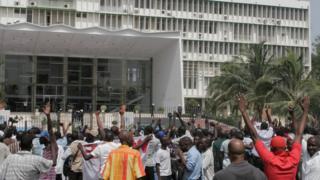 La devanture de l'assemblée nationale du Sénégal, le 23 juin 2011. (Illustration)