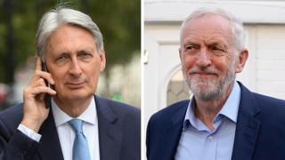 Philip Hammond and Jeremy Corbyn