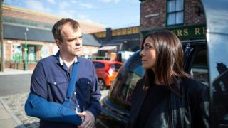 Coronation Street's Steve and Michelle