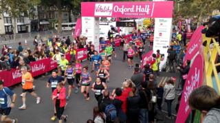 Oxford Half Marathon finish line 2015