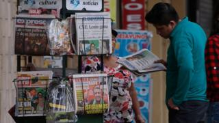 Newspapers in Ecuador on the day after the election