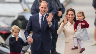 принц Уильям с супроугой и детьми