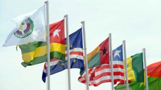 ECOWAS flags