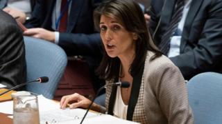 نیکی هیلی سفیر آمریکا خواهان رای کشورها به این قطعنامه شده بود