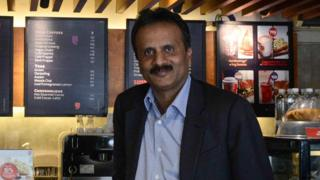 VG Siddhartha in a Cafe Coffee Day shop