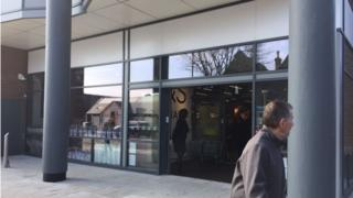 New M&S store in Aberystwyth with no food hall sign