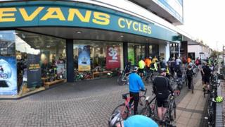 Evans Cycles has 60 stores across the UK
