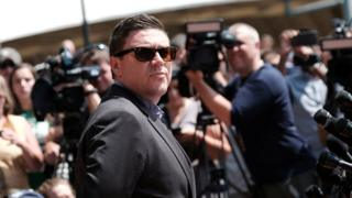 Jason Kessler attempting to give a press conference in Charlottesville Virginia August 2017