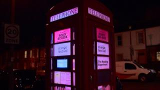 Illuminated phone box
