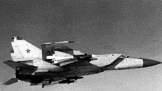 Foto de um MiG-25