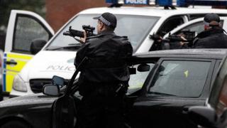 Armed Merseyside police officer
