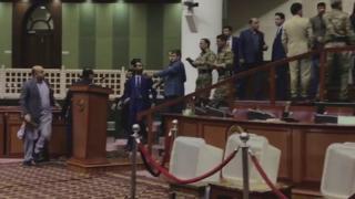 اولین جلسه دور هفدهم پارلمان افغانستان با تنش آغاز شد