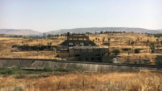 The remains of the Naharayim hydro-electric power plant that was built by Pinchas Rutenberg