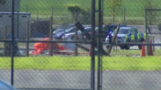 Scene of glider crash