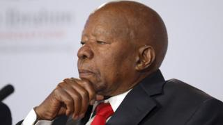 This file photo taken on October 15, 2012 shows former president of Botswana, Sir Ketumile Masire, member of the prize committee of the Mo Ibrahim Foundation, attending the announcement of the 2012 Ibrahim Prize for achievement in African Leadership in London