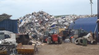 Waste dumped at the site in Nantyglo
