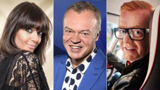 Claudia Winkleman, Graham Norton, Chris Evans