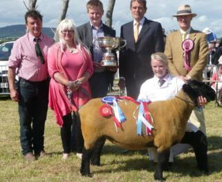 Last year the overall title was won by a Suffolk ewe.