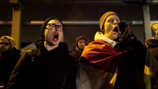 Protesto na Hungria contra nova lei trabalhista