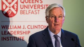 Brexit: New checks on goods entering NI 'indispensible' says Barnier
