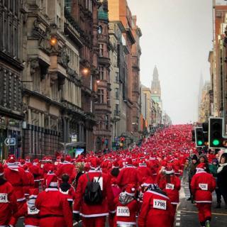 Glasgow Santa dash