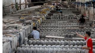 Chinese ceramics factory