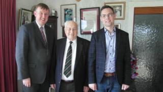 Mervyn Storey, Robert Coulter and Philip Logan