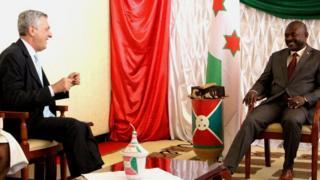 Umukuru w'ishirahamwe rya ONU riraba ivy'impunzi (HCR), Filippo Grandi na Prezida Pierre Nurunziza