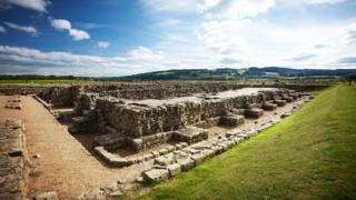 Roman remains near Corbridge