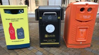 Bins for recycling rubbish
