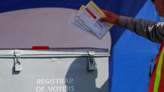 US election 2020: Court allows Texas postal vote restrictions thumbnail