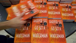 Copies of Go Set a Watchman on display in London