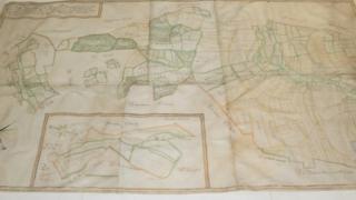 The Wimborne St Giles estate map
