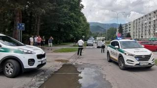 Police cordoned off the area in Vrutky