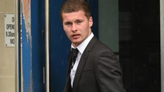 Dylan McDonald arriving at court