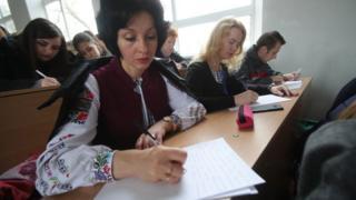 Диктант з української мови в одному із вишів на Луганщині